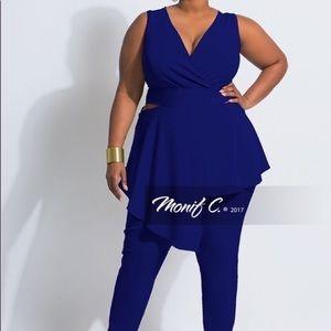 Plus size blue jumpsuit size 22